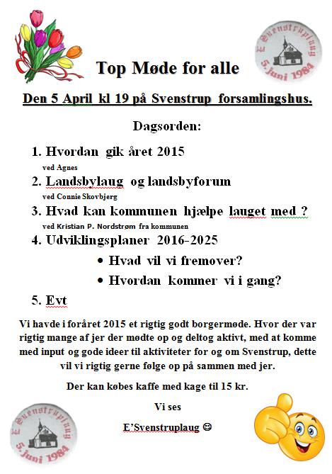 Topmøde 2016-04-05
